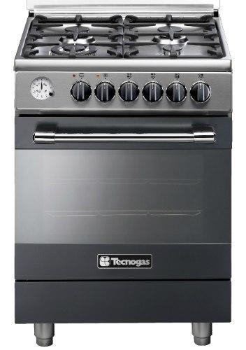"""תנור בישול ואפייה משולב גז 60 ס""""מ טכנוגז שחור TECNOGAS P2B66E4VC"""