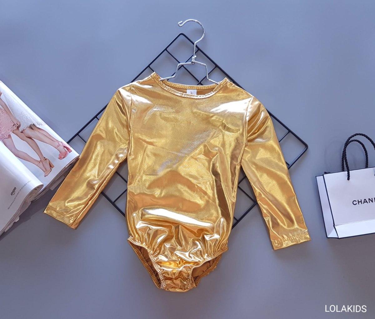בגד גוף לייקרה זהב