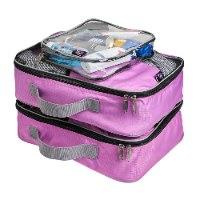 קוביות אריזה סט של 3 CABIN MAX- מצויין לארגון התיק או המזוודה- צבע ורוד