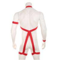 חליפת רתמה לגבר האקטיבי בצבע אדום