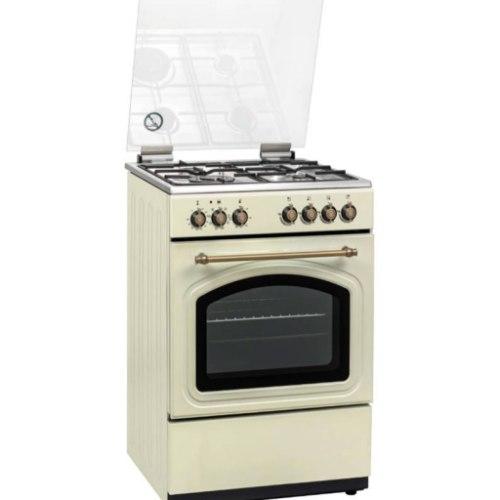 """תנור אפיה 60 ס""""מ קרם כפרי משולב 6 תכניות Normande  NR6006CR"""