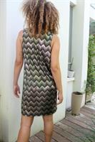 שמלת נלי זיגזג זהוב