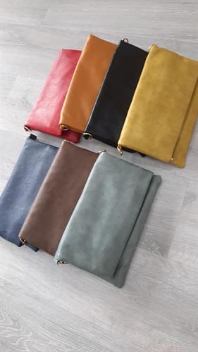 תיק צד מיטל שחור/חרדל/צהוב/חום/ירוק מנטה/כחול/אפור כהה