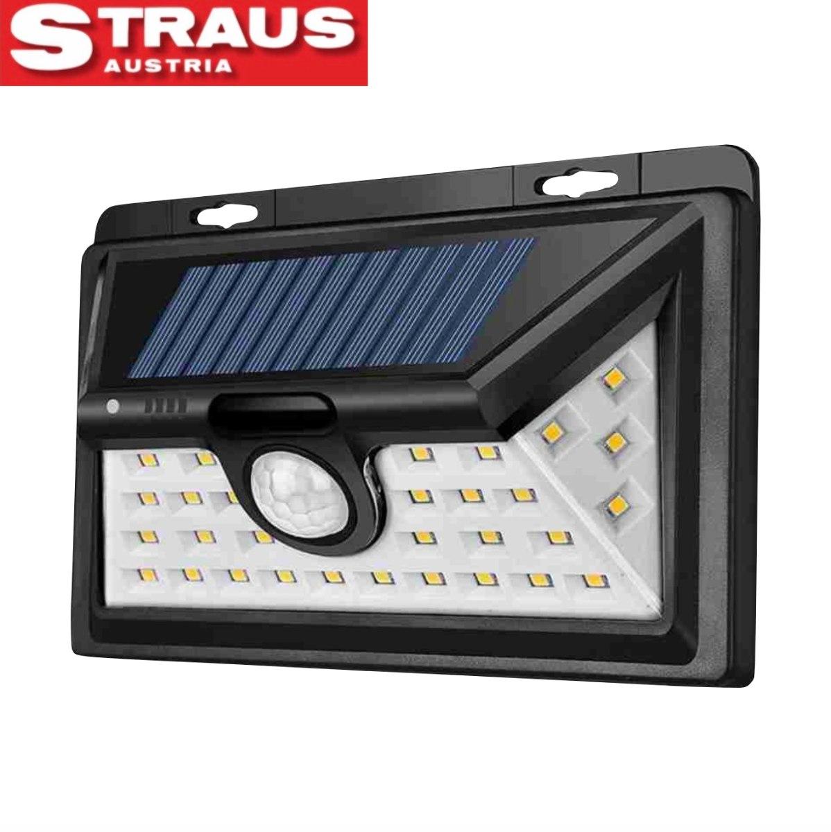 Straus גלאי תנועה סולארי רפלקטור LED 34 LED