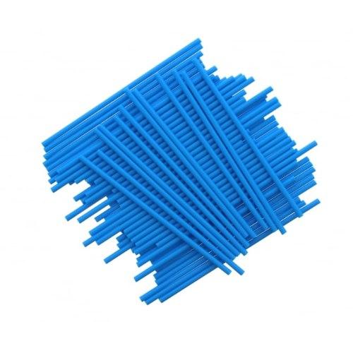 מקלות פלסטיק כחול ליצירה בשוקולד ובמרשמלו - 10 יחידות מקלות פלסטיק כחולים ליצירה חדש מאתי דבש