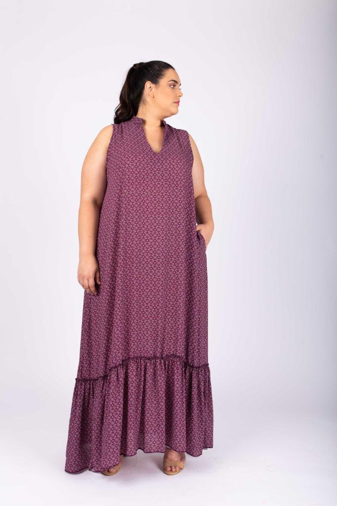 שמלת קיילי סגולה