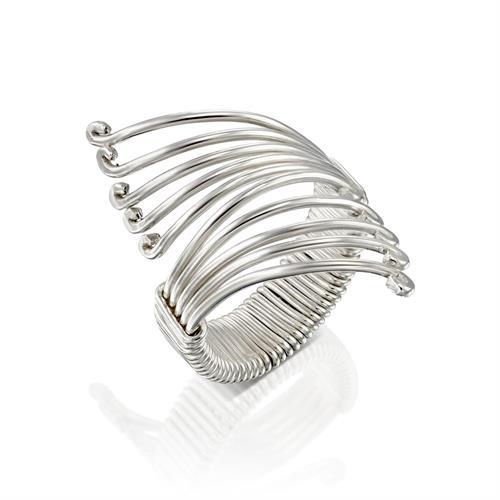 טבעת משי פרפר לבן