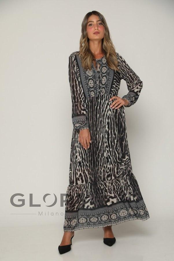 שמלת שיפון כפתורים GLORY