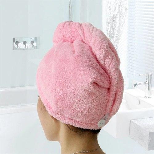 מגבת ראש לייבוש השיער במהירות