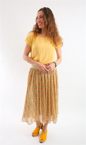 חולצת כותנה צהובה