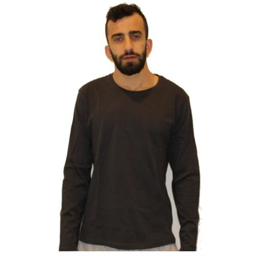 חולצת T בייסיק/צווארון עגול ש.א