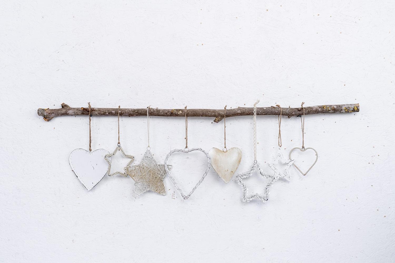 ענף מיקס של 8 יח' אלמנטים - לבן