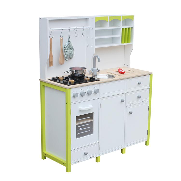 מטבח עץ לילדים לבן צהוב דגם אביב W10C280