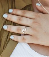 טבעת גל מכסף 925