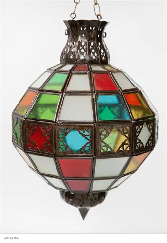 אהיל כדור זכוכית צבעונית