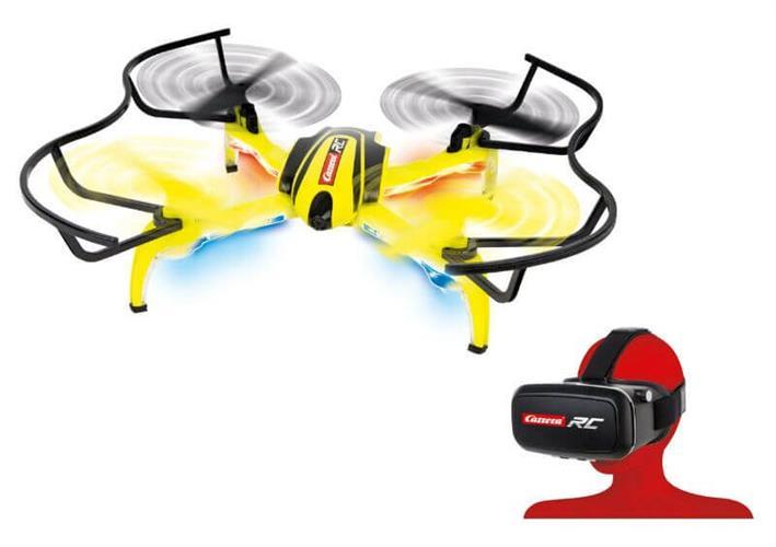 רחפן משוכלל – דגם Quadrocopter HD NEXT של מותג האיכות CARRERA RC מגרמניה - משקפי מציאות מדומה
