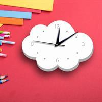 שעון קיר- ענן בלבן