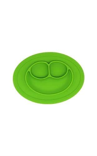 צלחת סיליקון חיוך לתינוקות - ירוק
