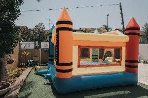 מתקן קפיצה מתנפח צבעי פנדה - D3628 מבית Jumpy Jump העולמית