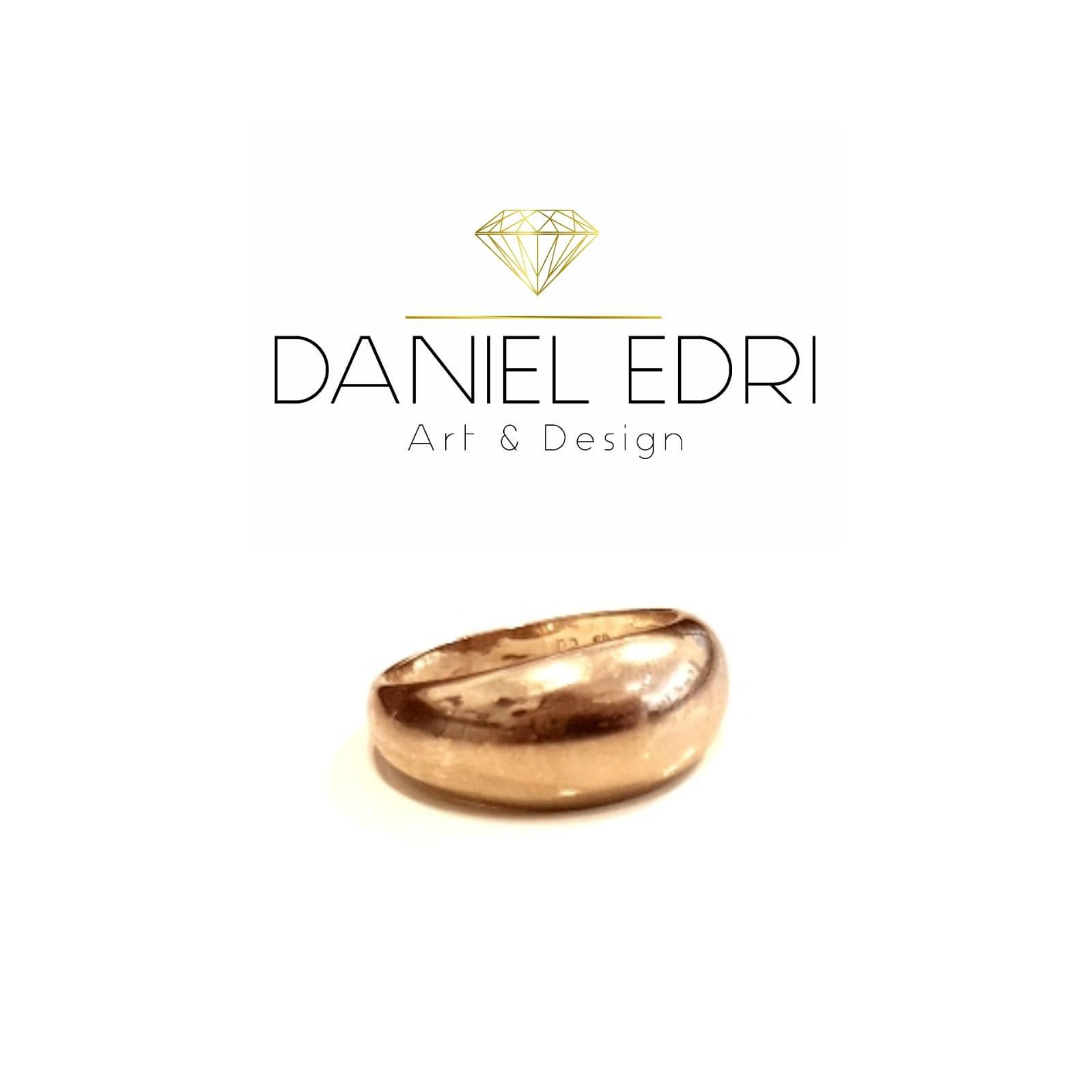 טבעת חלקה עבה גולדפילד