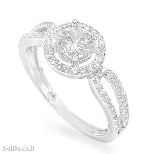 טבעת מכסף משובצת אבני זרקון  RG6206 | תכשיטי כסף | טבעות כסף