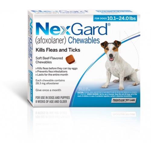 """NexGard חבילת 3 כדורים בטעם עוף נגד פרעושים וקרציות לכלבים במשקל 4-10 ק""""ג"""