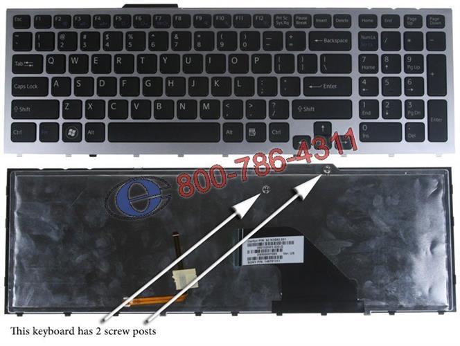 מעבדה אזורית למחשב נייד סוני - מקלדת לנייד SONY VAIO VPC-F11 / VPC-F12 Laptop Keyboard 148781311 / 148781521