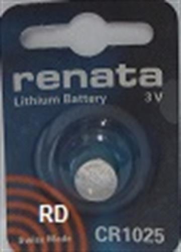 סוללת ליטיום 4 יחידות RENATA LITHIUM CR1025