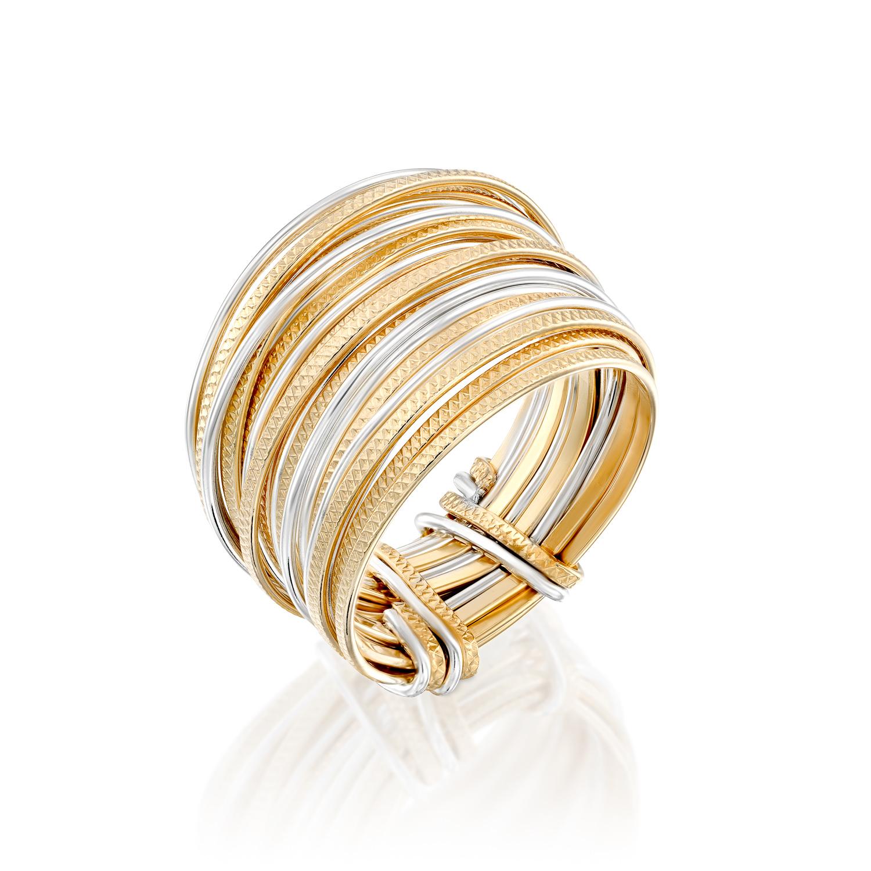 טבעת ספירלי פסיפס