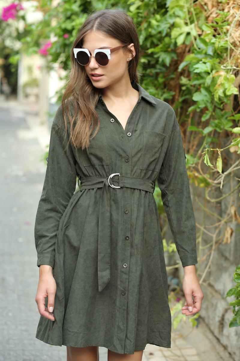 שמלת דמוי זמש אמילי