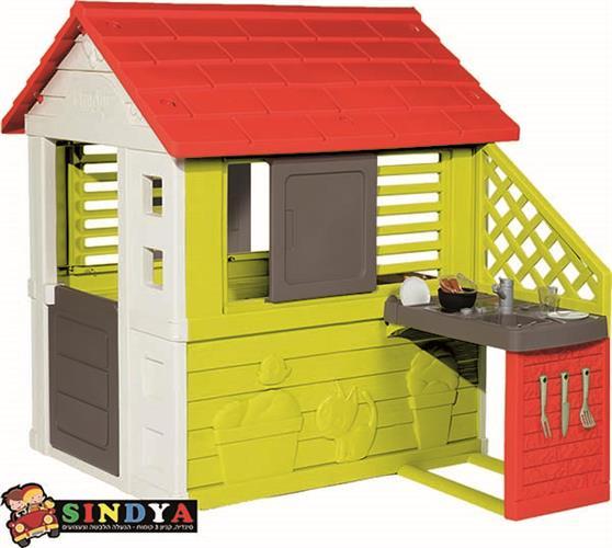 בית ילדים בטבע עם מטבחון SMOBY 810713
