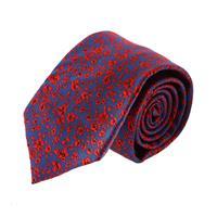 עניבה קלאסית פרחים כחול אדום