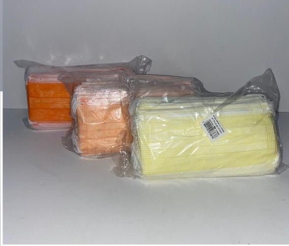 חבילת מסכות מבוגרים מגוון צבעים