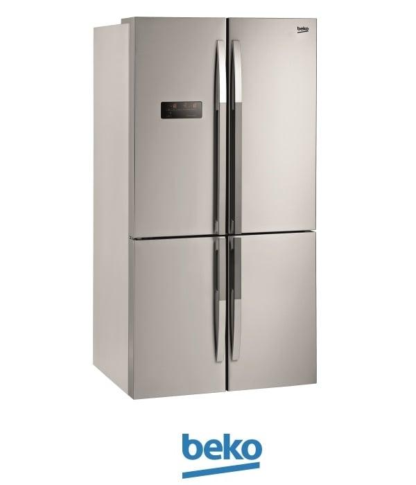 beko מקרר 4 דלתות דגם: 114780X צבע נירוסטה מתצוגה !