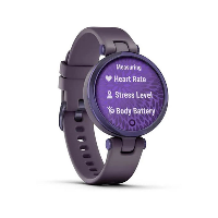 Lily Sport Midnight Orchid Bezel with Deep Orchid Case and Silicone Band