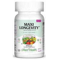 -- מולטי ויטמין ומינרלים לנשים Maxi Longevity -- מכיל 60 כמוסות, Maxi Health