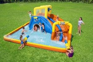 מתקן קפיצה מתנפח פארק מים מסלול מירוצים + כדורסל בסטוואיי BESTWAY 53377 - קפיץ קפוץ
