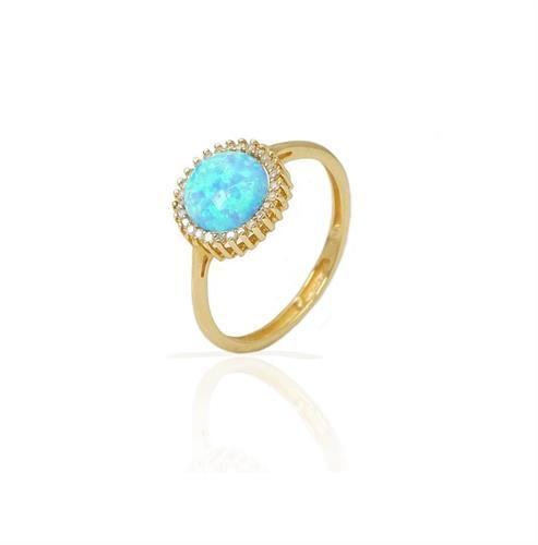 טבעת זהב אופל ויהלומים
