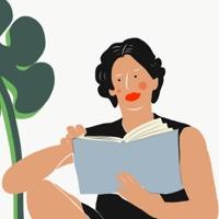 """אשה קוראת ספר בנחת - מתוך """"החיים יפים"""", הסדרה האופטימית"""