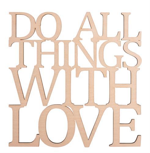 שלט מעץ ליצירה - DO WITH LOVE