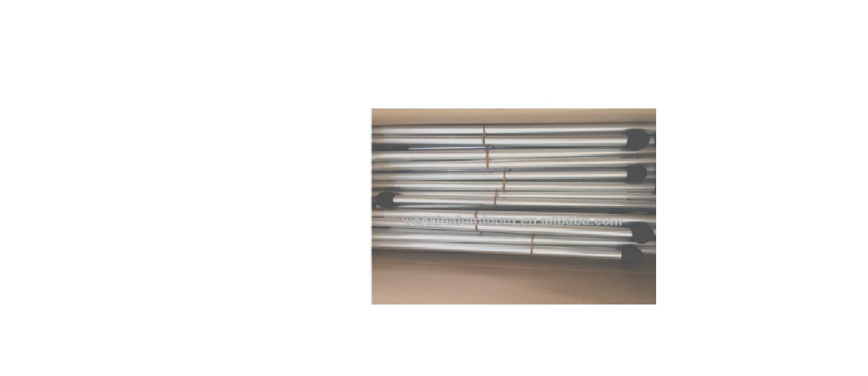 2 מוטות  אלומיניום  עם  מפרקים וכדור ספוג - לציליה