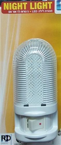 מנורת לילה 5 לד עם מפסק אור חם