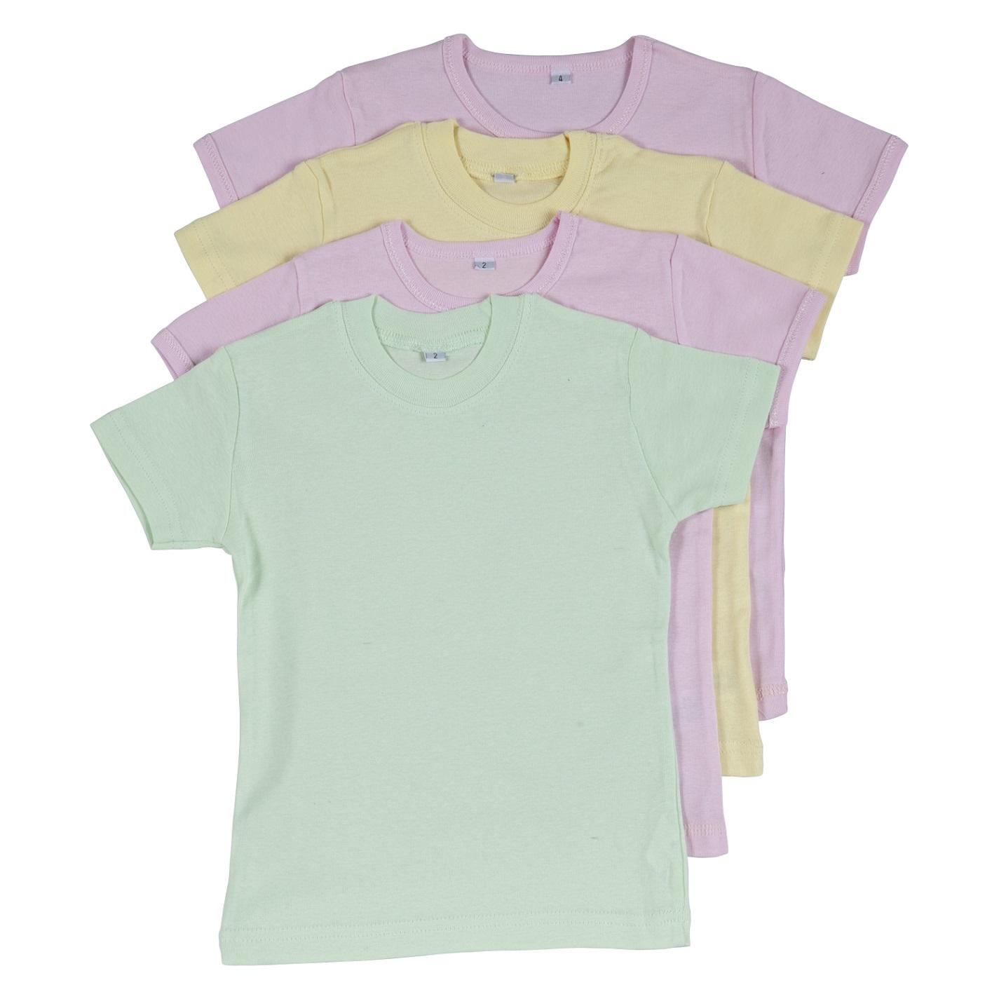 רביעיית חולצות ריפ 2 ורוד בייבי-צהוב-ירוק