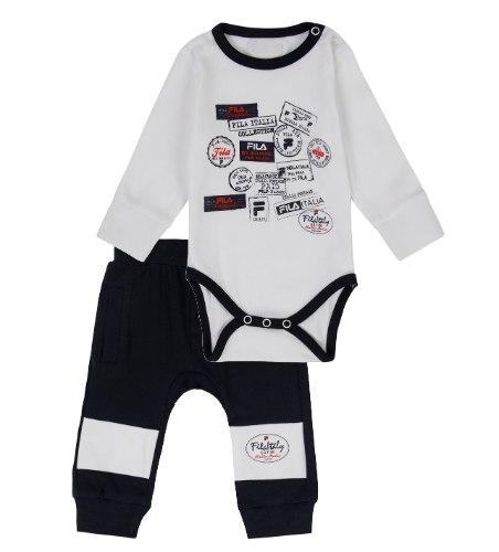 חליפת תינוקות FILA כחול/לבן בנים  - מידות NB עד 12 חודשים