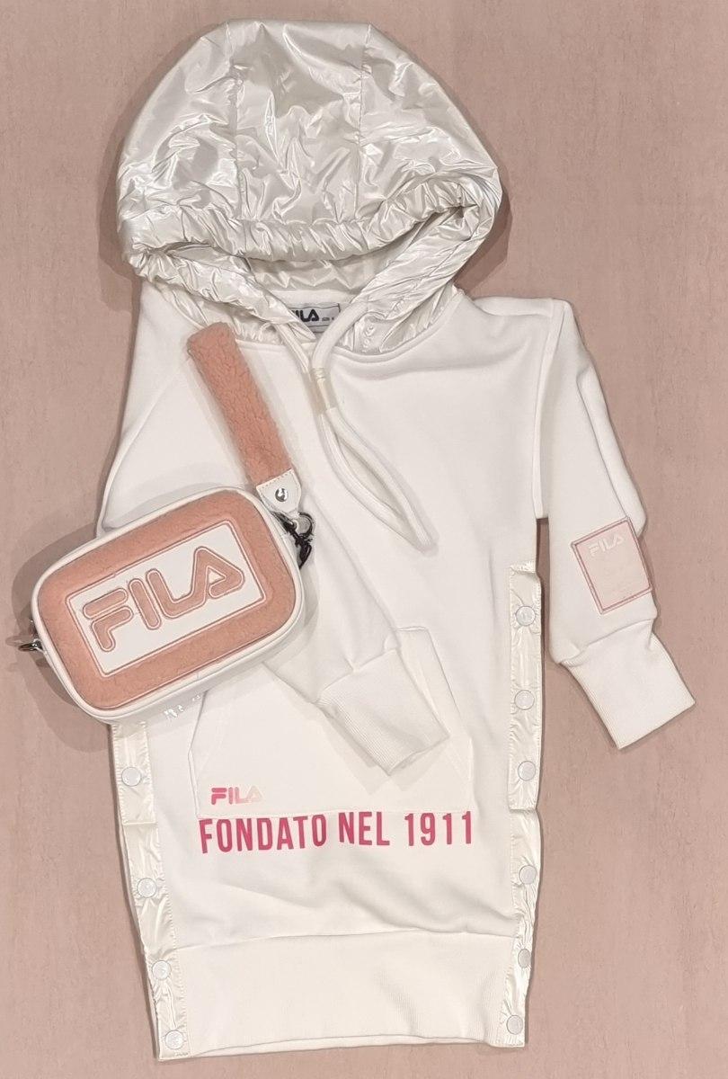 שמלת קפוצון לבנה FILA (6-16)