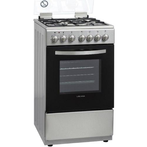 תנור אפיה צר לקאזה משולב כיריים גז LACASA LCV50IX צבע נירוסטה