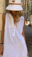 שמלת שינה מיקונוס לבנה