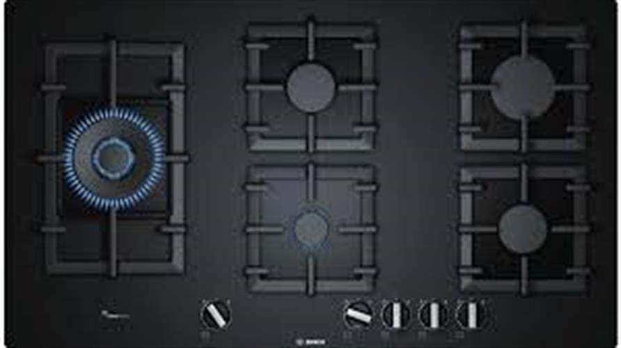 """כיריים בוש 90ס""""מ זכוכית שחורה PPS9A6B90"""