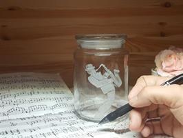 נגן כינור | צנצנת זכוכית