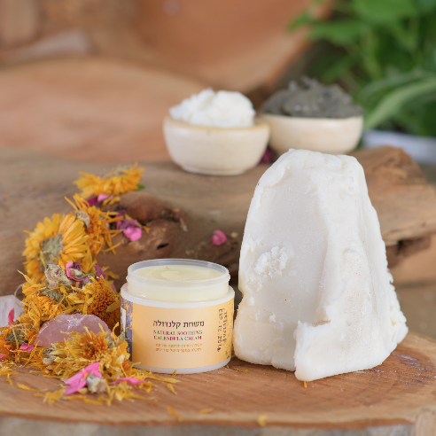 משחת קלנדולה - מיכל סבון טבעי